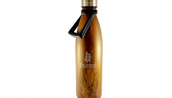The Source Stainless Steel Water Bottle 750ml with handle image