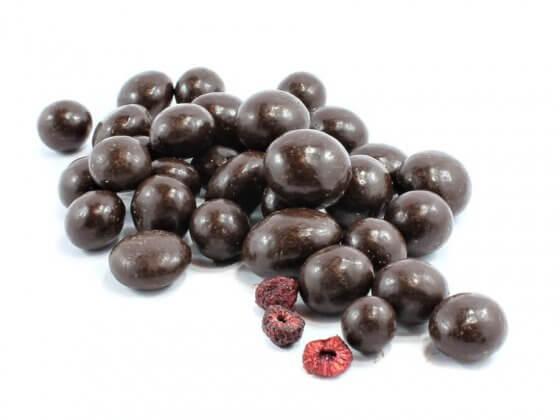 Dark Chocolate Covered Organic Raspberries image