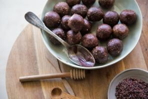 Bowl of protein balls