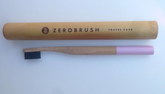 Bamboo 'Zerobrush' Toothbrush- Blue End Soft Bristle image