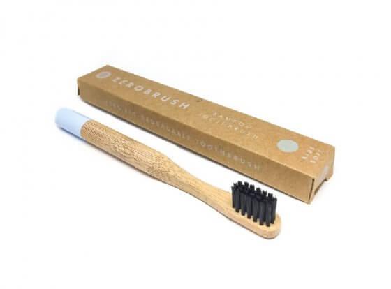 Children's Blue Bamboo 'Zerobrush' Toothbrush - Soft Bristle image