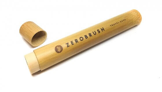 Bamboo 'Zerobrush' Toothbrush Travel Case image