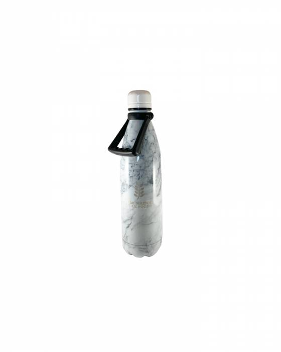 The Source Stainless Steel Marble Water Bottle 750ml with handle image