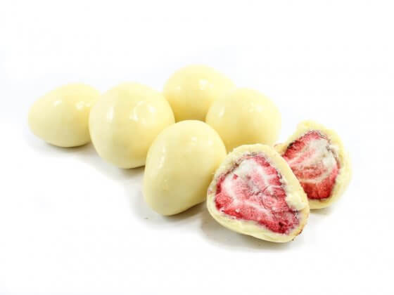 White Chocolate Freeze Dried Strawberries image