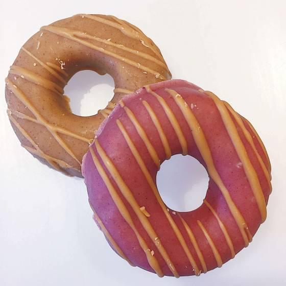 Raw Peanut Butter & Raspberry Donut image