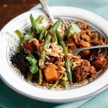 slow cooked lamb and pumpkin recipe