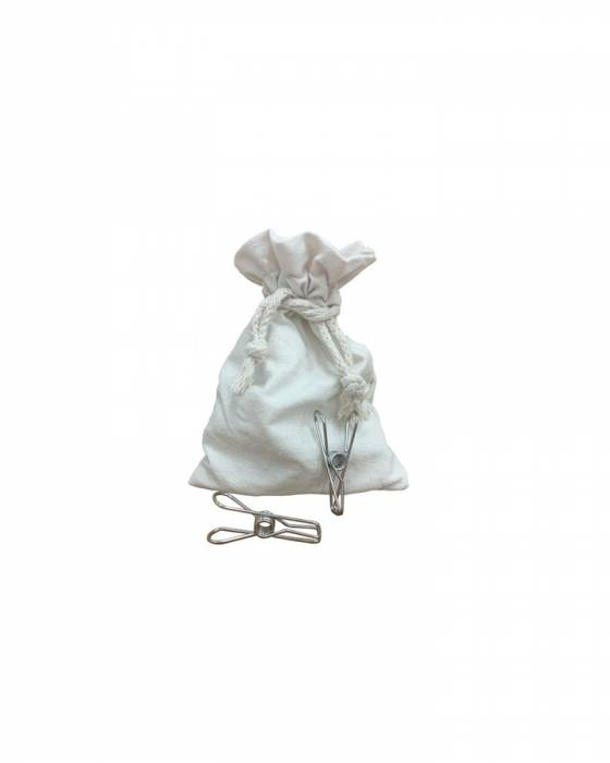 Stainless Steel Pegs in Cotton Bag image