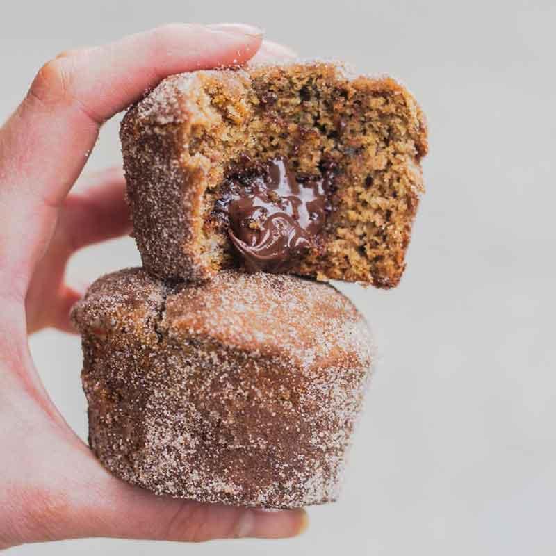 Cinnamon Sugar Banana Muffins by @pheebsfood