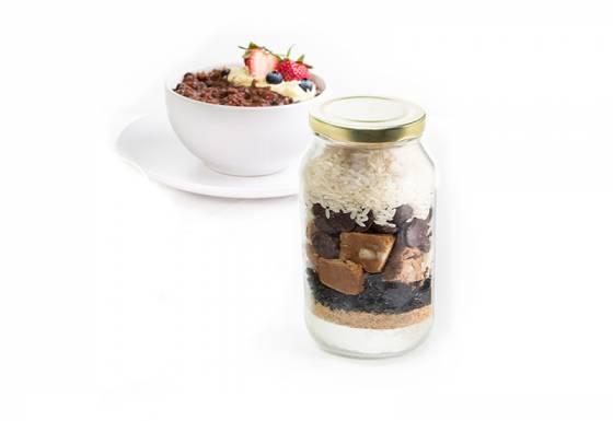 Choc Berry Rice Pudding Mix image